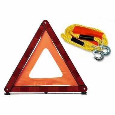 Autopech set sleepkabel 4 meter inclusief gevarendriehoek